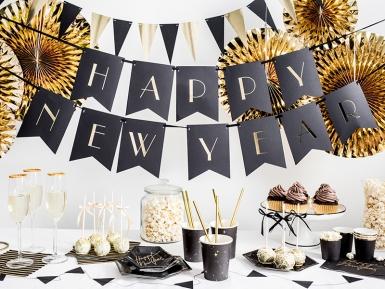 6 Assiettes en carton Chauves souris noires et dorées 20 cm-4