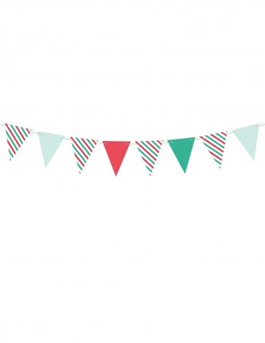Guirlande fanions couleurs de Noël 15 x 130 cm