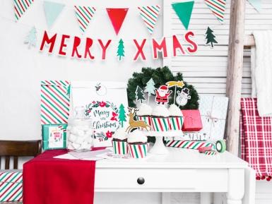 Guirlande fanions couleurs de Noël 15 x 130 cm-2