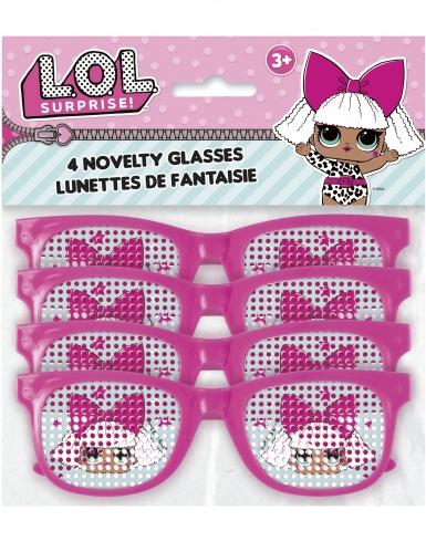 4 Paires de lunettes roses à pois LOL Surprise™