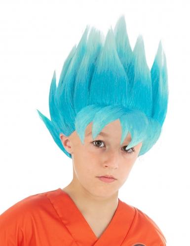Perruque bleue Goku Saiyan Super Dragon ball