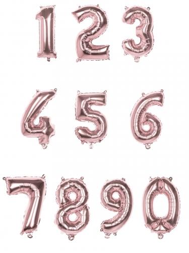 Ballon aluminium rose métallisé chiffre 36 cm-1