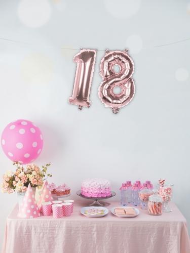Ballon aluminium rose métallisé chiffre 36 cm-2