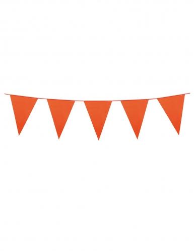 Guirlande à mini fanions orange 3 m