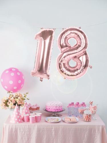 Ballon aluminium rose métallisé chiffre 86 cm-2