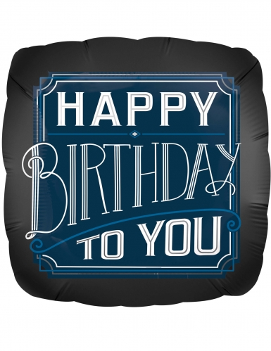 Ballon Happy Birthday to you 43 x 43 cm