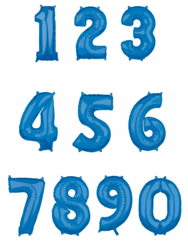 Ballon aluminium chiffre bleu 66 cm-1