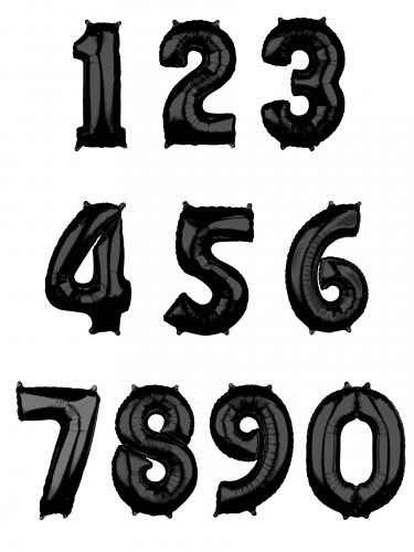 Ballon aluminium chiffre noir 66 cm-1