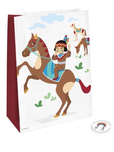4 Sacs cadeaux Tippie des tribus avec stickers