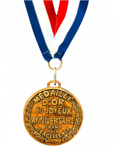 Médaille d'or Joyeux Anniversaire