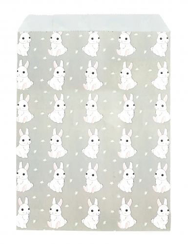 25 Sachets en papier Lapinou gris 13 x 17 cm