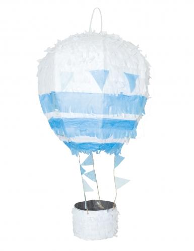 Piñata montgolfière bleue et blanche 56 cm