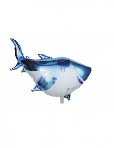 Ballon aluminium gros requin 98 x 44 cm