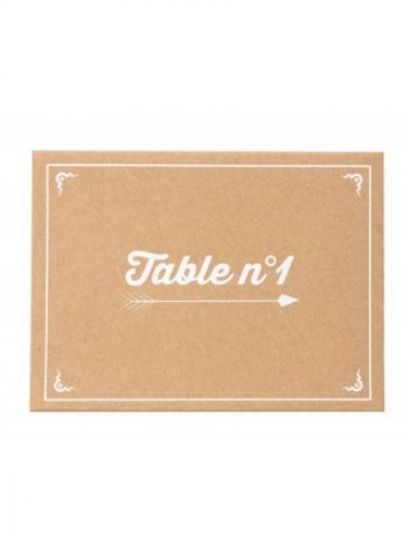 15 Numéros de tables en kraft 16 x 12 cm