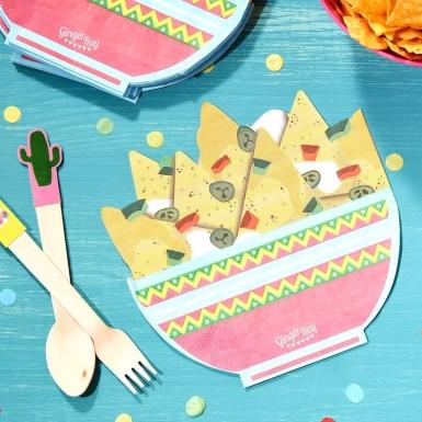 16 Serviettes en papier nachos 33 cm-1