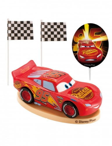 Kit cake toppers en plastique Cars™ 8,5 cm