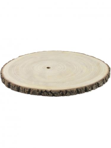 Rondin de bois naturel 33 à 40 cm