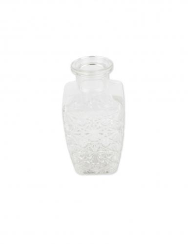 Vase gravure ancienne verre carré 6,5 x 12,5 cm - 250 ml