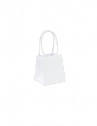 6 Petits sacs en carton blancs 9 x 10 cm