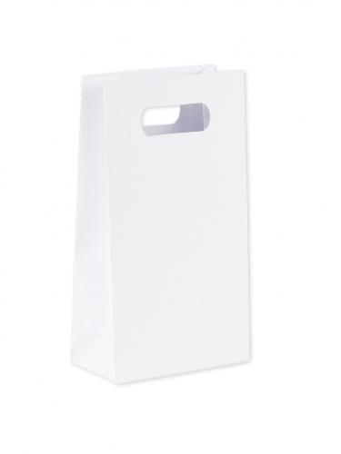 6 Sachets à goodies blancs 10 x 18 x 5 cm