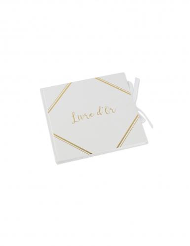 Livre d'or blanc dorure embossée 21 x 20 cm 64 pages