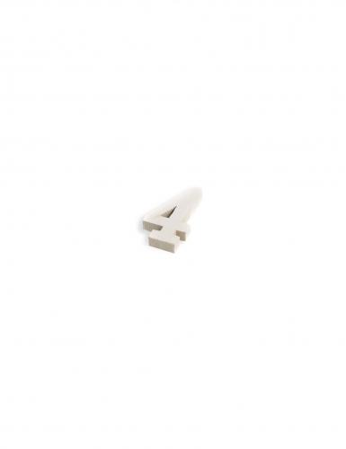 Chiffre en bois naturel blanc 5 cm-4