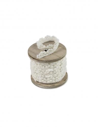 Ruban dentelle blanche 0,5 cm x 7 m