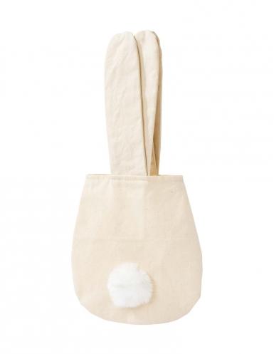 Sac Lapin en tissu beige 34 cm-1