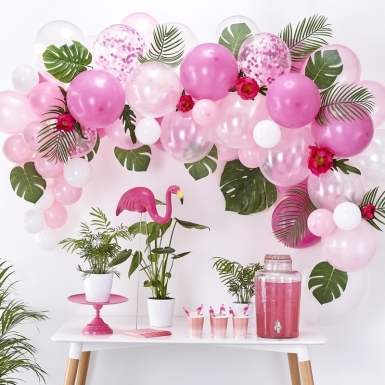 Kit arche de 70 ballons en latex roses-2