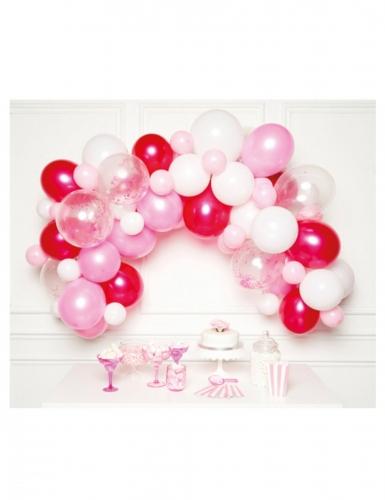 Kit arche de 70 ballons en latex roses