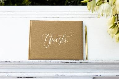 Guest book kraft et blanc 22 pages 24 x 18,5 cm-1