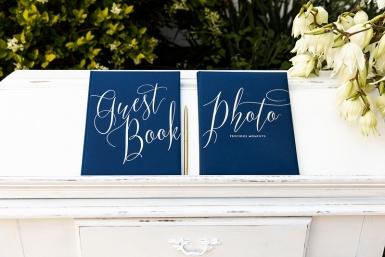 Guest book bleu et blanc 22 pages 24 x 18,5 cm-1