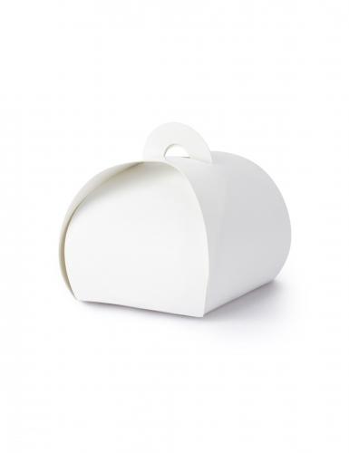 10 Boîtes en carton blanches 6 x 5,5 cm