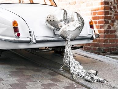Kit décoration de voiture argenté -2