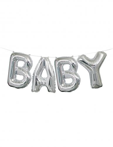 Guirlande ballon aluminium baby argenté 35 cm