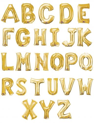 Ballon aluminium lettre doré 35 cm-1