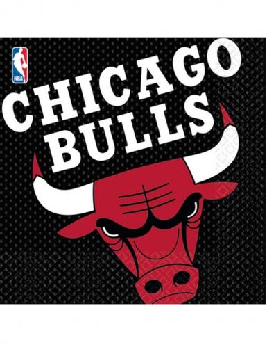 16 Serviettes en papier Chicago Bulls™ 33 x 33 cm