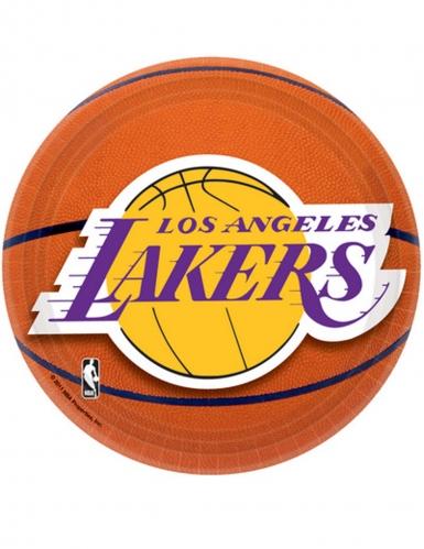 8 Petites assiettes en carton Lakers™ 18 cm