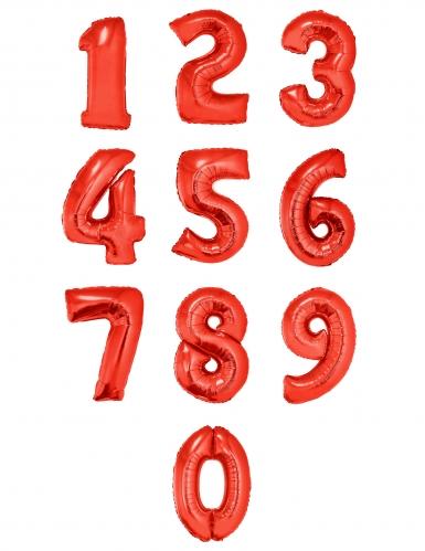 Ballon aluminium chiffre rouge 1 m-1