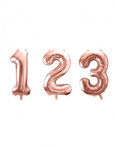 Ballon aluminium chiffre rose gold 85 cm-1