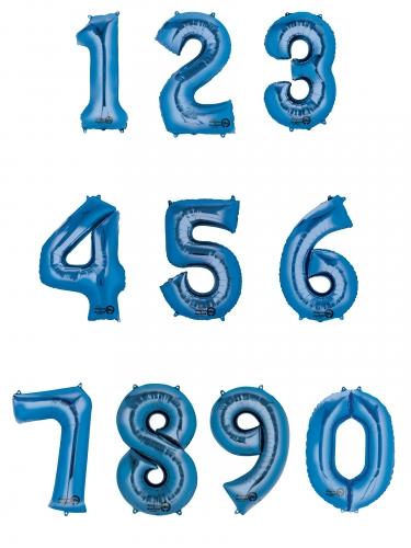 Ballon aluminium chiffre bleu 85 cm-1