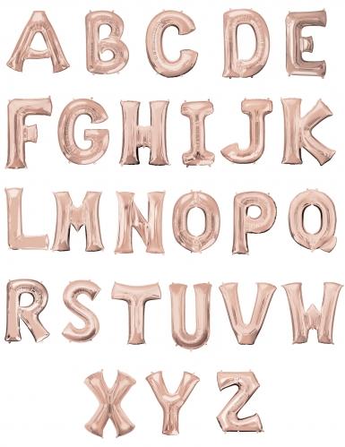 Ballon aluminium lettre rose gold 81 cm-1
