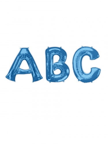 Ballon aluminium lettre bleue 81 cm