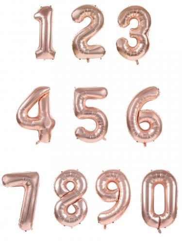 Ballon aluminium chiffre rose gold 36 cm-1
