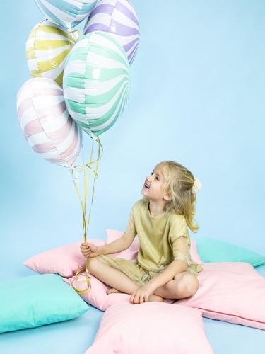 Ballon aluminium sucette violet et blanc 45 cm-1