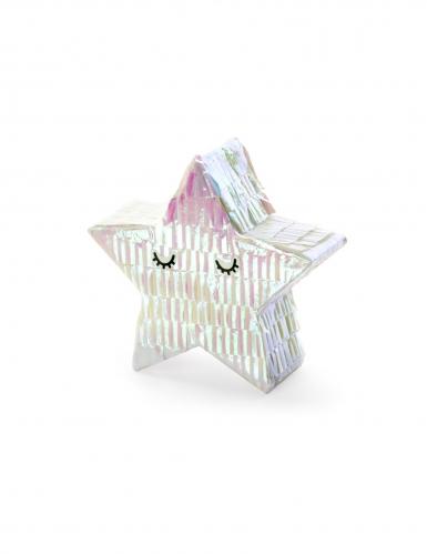 Mini piñata étoile iridescente 10,5 cm