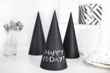 6 Chapeaux de fêtes en carton personnalisables 10 x 21,5 cm-1