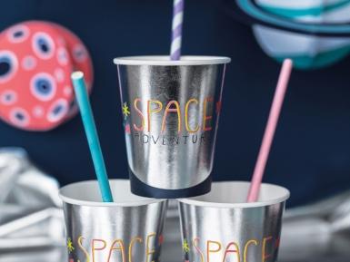 6 Gobelets en carton space adventure 200 ml-1