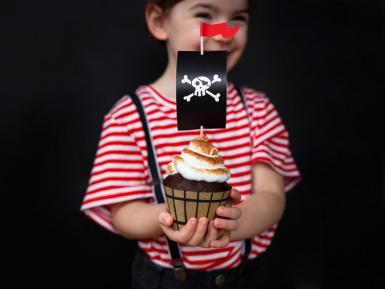 Kit à cupcake fête de pirate 4,8 x 7,6 x 4,6 cm - 20 cm-1