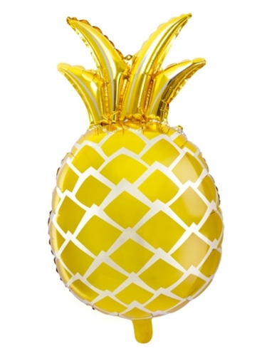 Ballon aluminium ananas jaune 48 x 67 cm